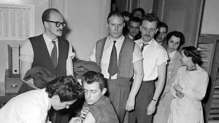 Ouest France: épidémie de variole à Vannes en 1955, campagne de vaccination